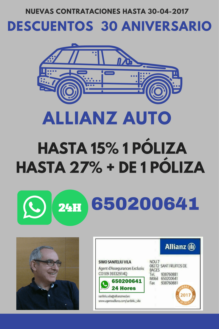 📲650200641 🙋Tu agente #Digital #24h de #Allianz Seguros 📞Whatsapp 650200641